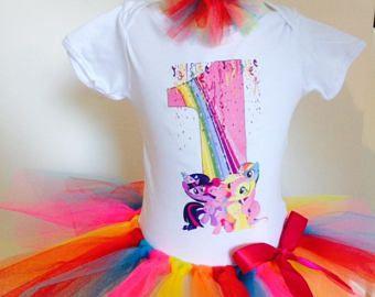 Mein kleines Pony-Geburtstag-Outfit, Geburtstag Shirt, Regenbogen Tutu, Geburtstags-t-Shirt, benutzerdefinierte Shirt, mein kleines Pony-Hemd, Kuchen zerschlagen Outfit, jeder Name und Alter