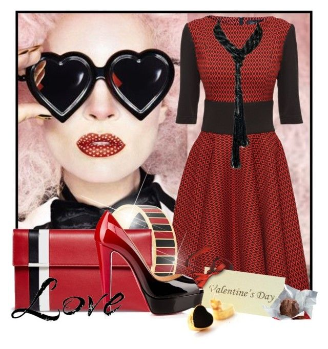 """""""My Funny Valentine"""" by doozer ❤ liked on Polyvore featuring Lattori, Givenchy, Tomasini, Christian Louboutin and toosis"""