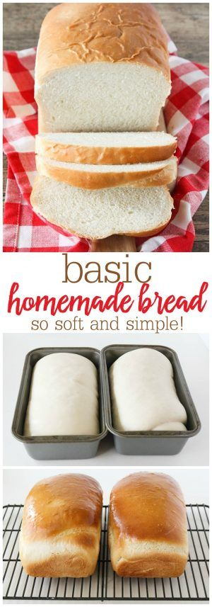 Basic Homemade Bread - the best, most fluffy loaf of homemade white bread! Tastes so much better than store bought!!