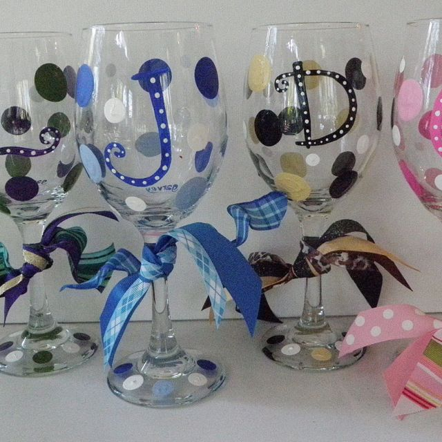1000 ideas about painted initials on pinterest initial for Painted wine glasses with initials