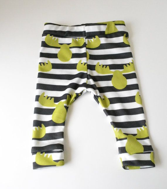 Organic baby boy clothes ,  Baby shower gift , Baby boy pants , Photography  props newborn baby, Moose and stripes pattern