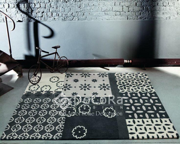 #carpet #black #white