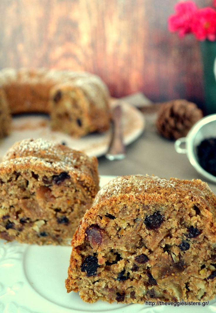 Πλούσιο κέικ με ξερά φρούτα κ αμύγδαλα Dried fruit almond cake