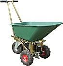 Battery powered electric wheelbarrow