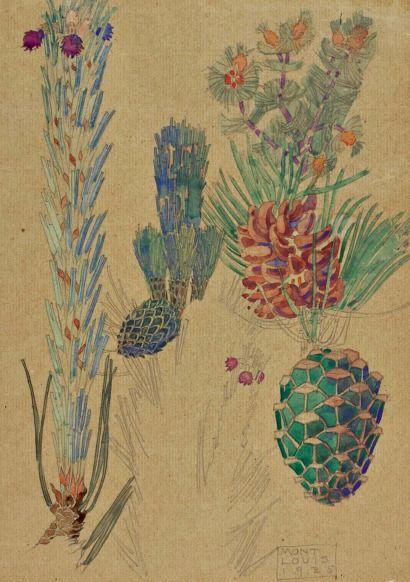 Charles Rennie Mackintosh Pine Cones 1925