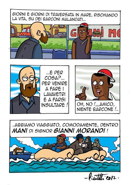 millevignette di ignazio piscitelli: Ccianni Morandi, ti trasporta l'immigrato come se ...
