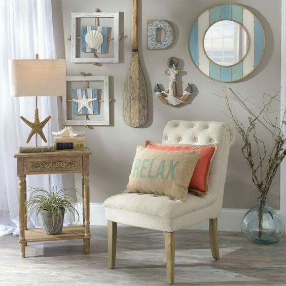 like the framed shells with rope beach inspired bedroombeach themed