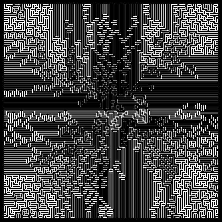"'Signal & Noise 14-02-2017 #1' © 2017 Titus Hora 150 x 150cm (54"" x 54"") digital print #abstract #procedural #parametric #generative"