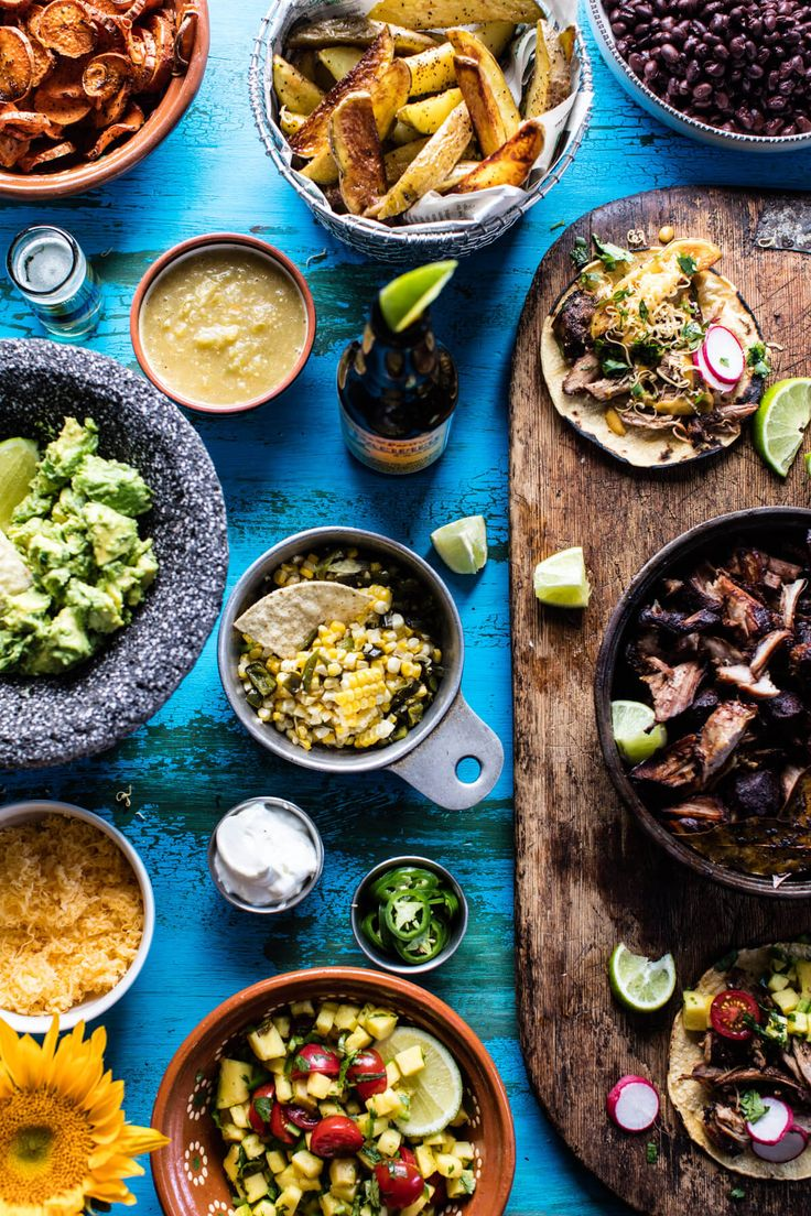 Mexican Carnitas Bar - a super fun and easy way to celebrate Cinco de Mayo! From halfbakedharvest.com