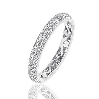 Alliance Diamants blancs tour complet Or blanc sertie grain de 156 diamants - 0,85 carat