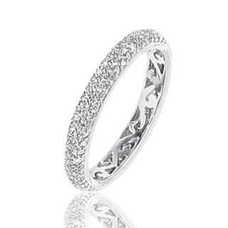 Alliance Diamants blancs tour complet Or blanc sertie grain de 156 diamants - 0,85 carat