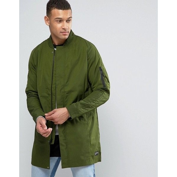 Nike FC Longline Bomber Jacket In Green 831159-331 (£47) ❤ liked on Polyvore featuring men's fashion, men's clothing, men's outerwear, men's jackets, green, mens longline bomber jacket, mens long jacket, mens green bomber jacket, nike mens jackets and mens long bomber jacket