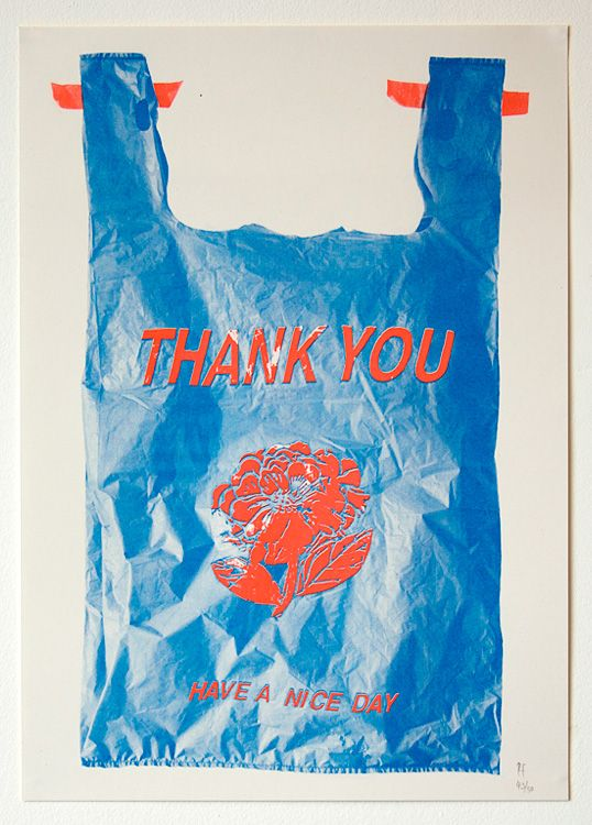 THANK YOU HAVE A NICE DAY by Raquel Figueira A3 Risograph on 140gsm Cyclus Offset Edition of 50, signed and numbered £20  printed by Bolt Editions