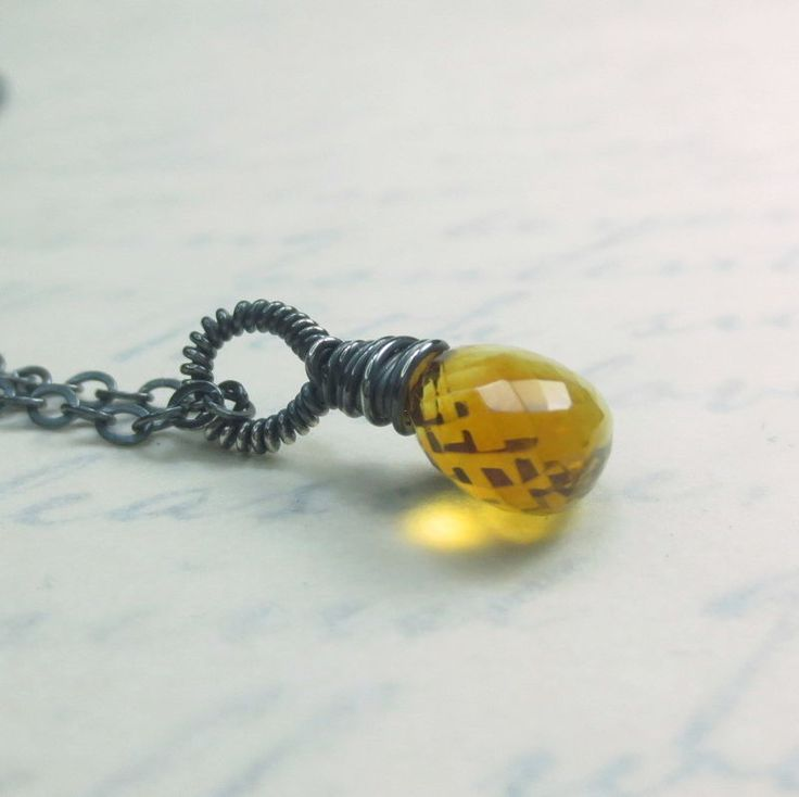 Golden Citrine Faceted Gemstone Drop 18 Inch Necklace, Argentium Sterling Silver, November Birthstone, Lobster Clasp $45 Healing Crystal Jewelry http://www.healingcrystaljewelry.ca/collections/gemstone-necklaces/products/golden-citrine-faceted-gemstone-drop-18-inch-necklace-argentium-sterling-silver-lobster-clasp