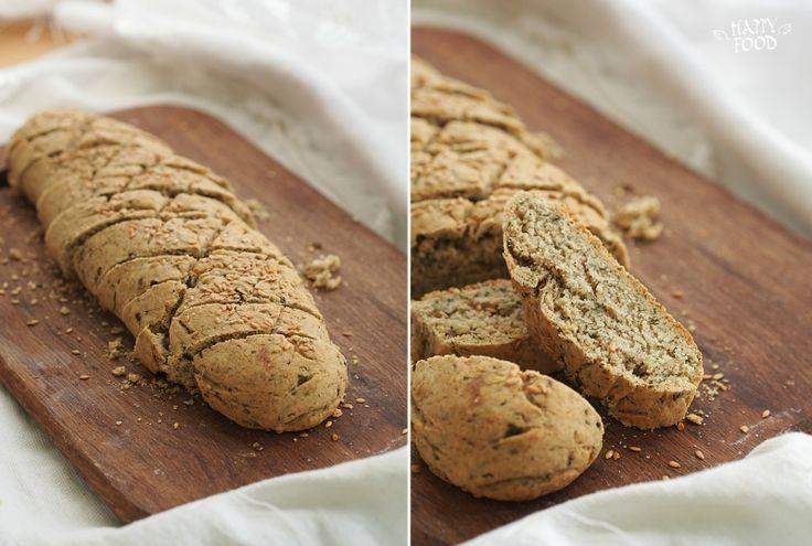 Хлеб на овсяной муке с зеленью