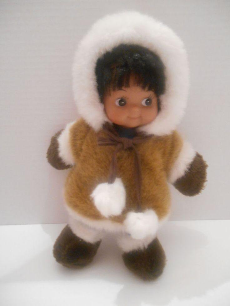Kipmik Eskimo Native Anchorage Alaska Girl Doll Plush Soft