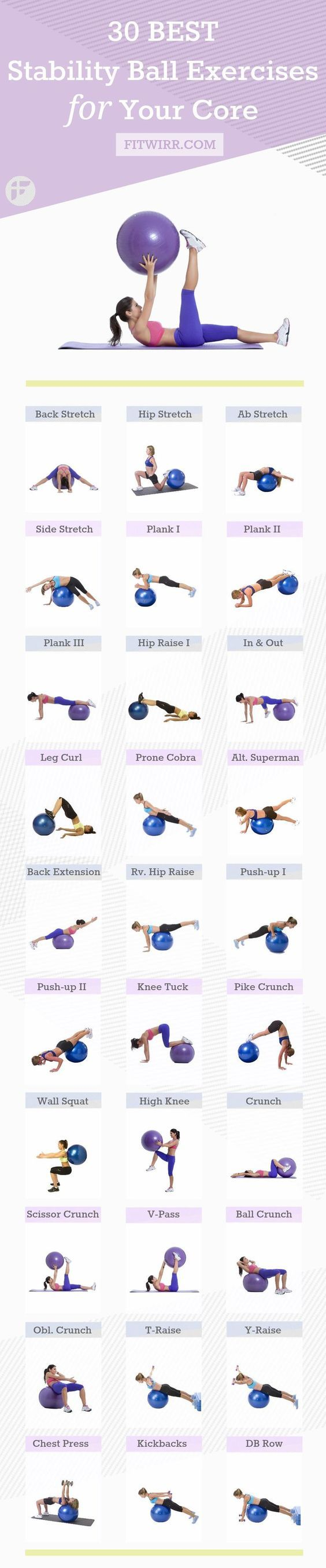 30 Best Stability Ball Exercises for Beginners – Jewell Cochran