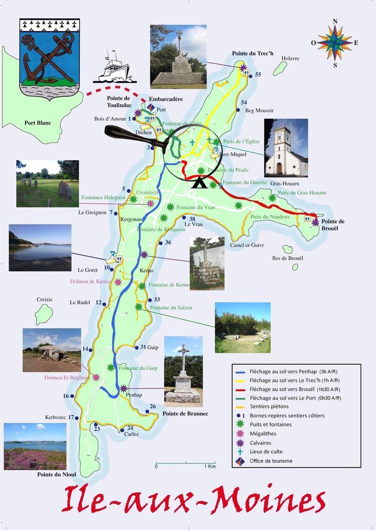 Site officiel de la mairie de l'Ile aux Moines - Plan de l'île