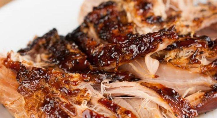 Crockpot Brown Sugar Balsamic Glazed Pork Tenderloin - Slow Cooker Foods