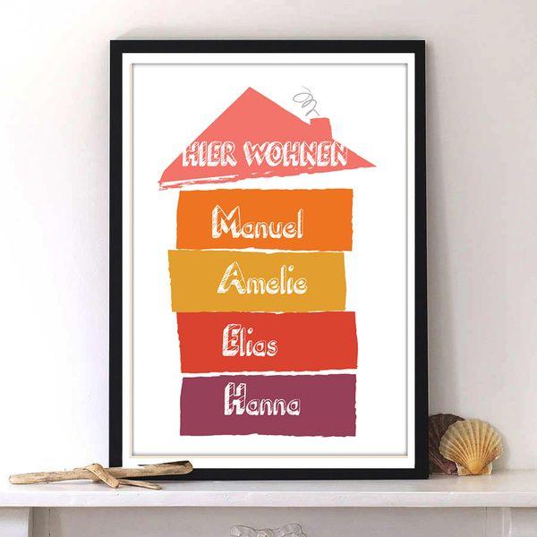 Print Türschild Geschenk für die neue Wohnung von Pili Chepper auf DaWanda.com
