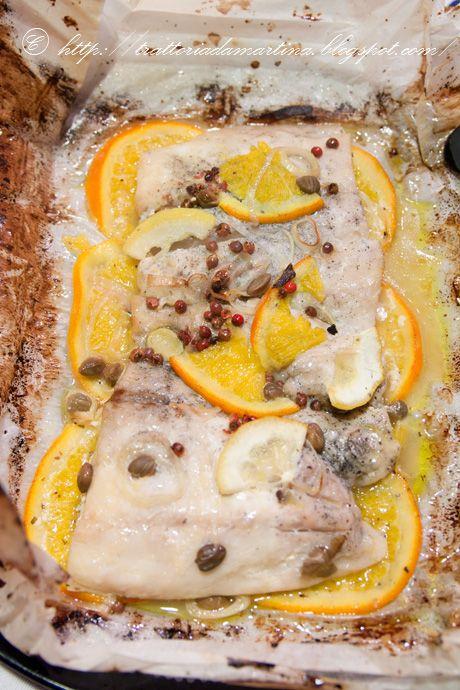 Cartoccio di filetti di persico agli agrumi -