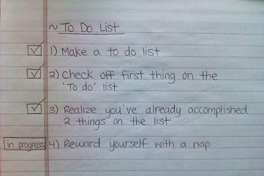 I need to make more to-do lists like this!