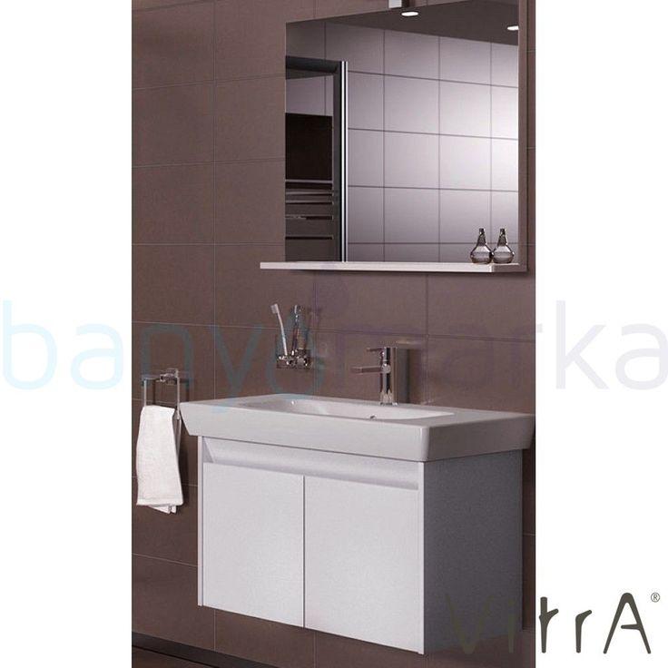 Vitra Step Lavabo Dolabı Demonte Set, 65 cm, Beyaz (Ayna ve raf dahil)