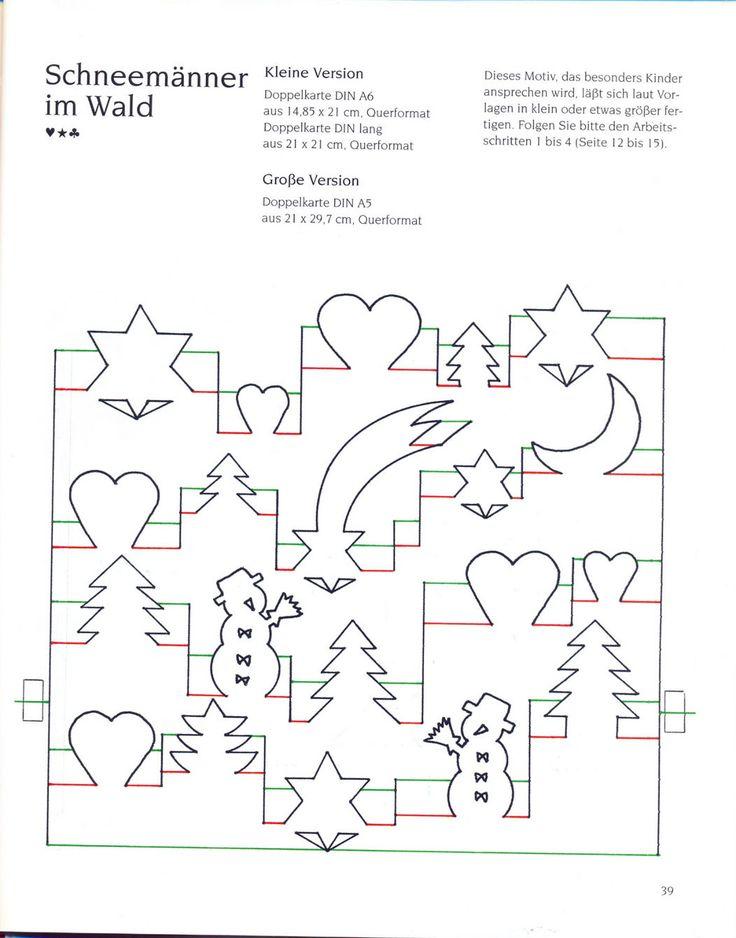 Схемы открыток в технике поп ап, картинки