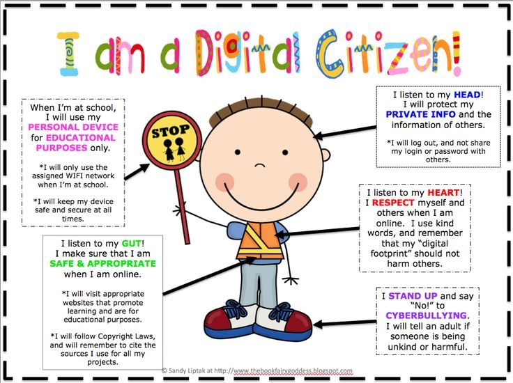 Great poster to introduce digital citizenship to elementary students. #EdTech