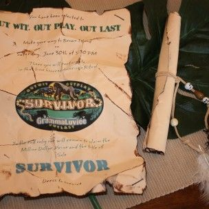 The Survivor TV show themed party