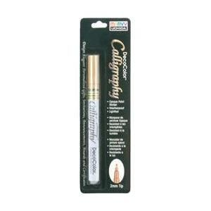 Uchida 264077 Deco Color Calligraphy Pen 2mm Tip-Gold