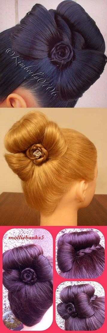Sophisticated Bun Decorated with a Cute Bow – Tutorial