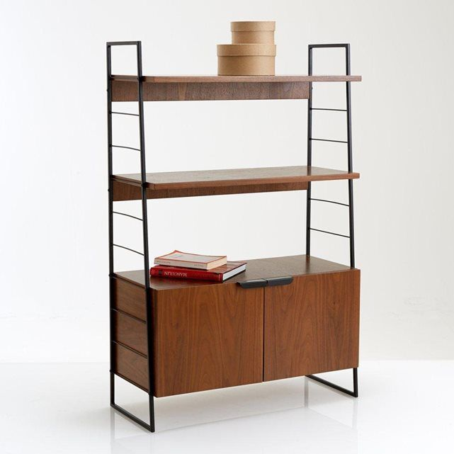 Étagère acier et noyer vintage, h123 cm, watford La Redoute Interieurs | La Redoute