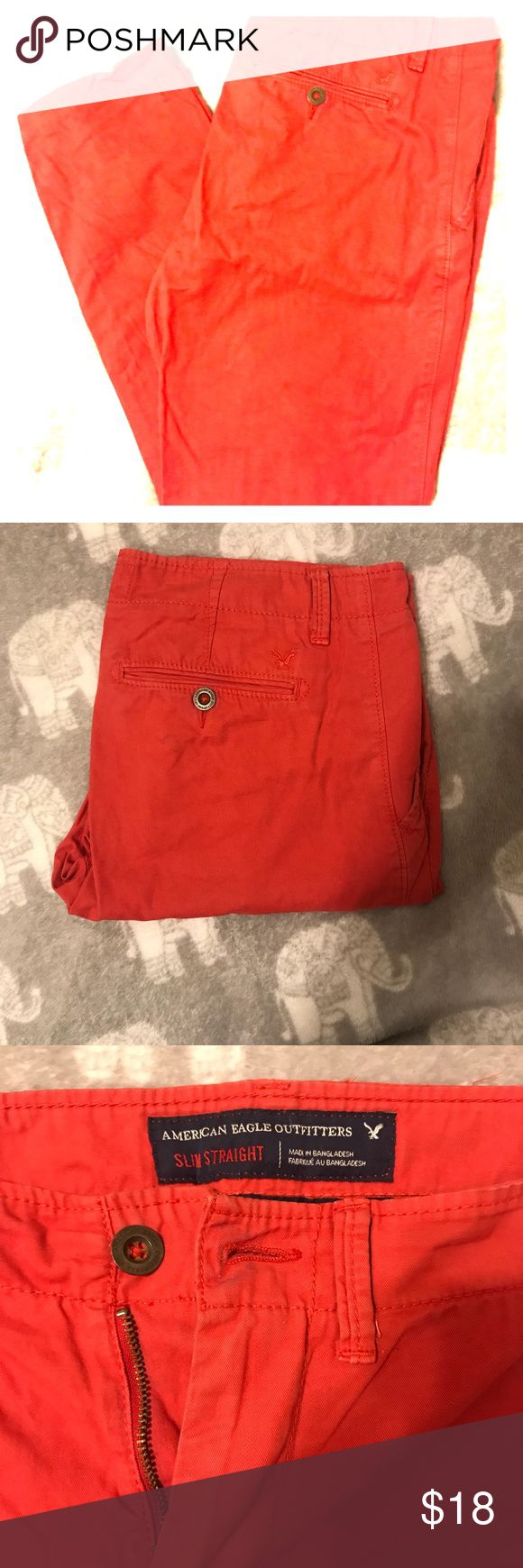 American Eagle red Pants for Men Barely used pants American eagle size is 32 waist and 30 length. American Eagle Outfitters Pants Chinos & Khakis