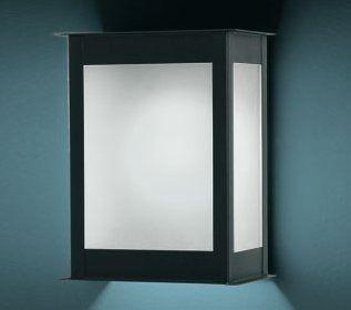 farol exterior de pared vidrio satinado para 1 lampara e27