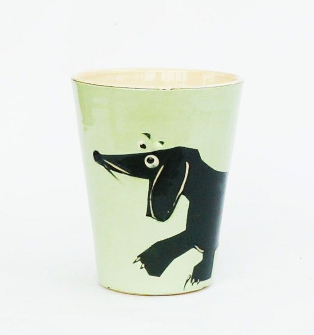 DACHSHUND animal cup with dog by Scandinavian designer Camilla Engdahl - Nordic Design Collective