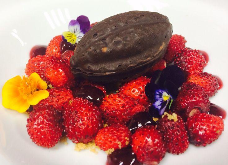 Dessert chocolate berries