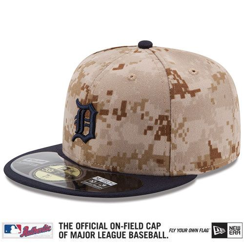 Detroit Tigers 2014 Authentic Collection USMC 59FIFTY On-Field Game Cap - MLB.com Shop