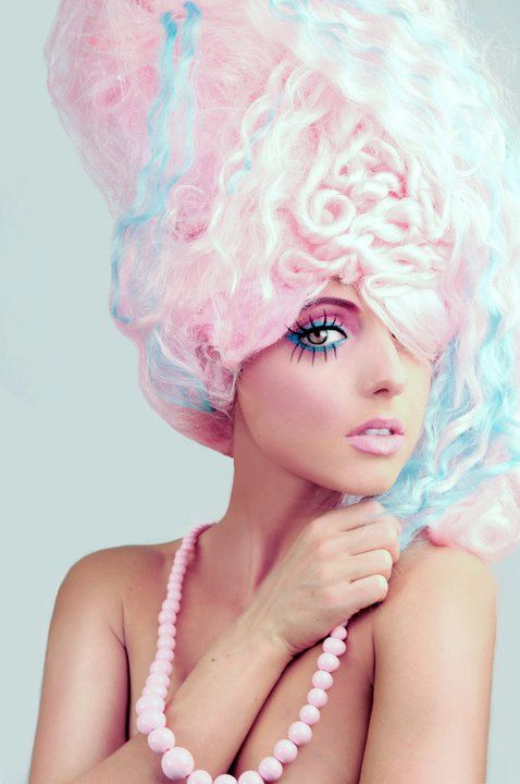 halloween costume: cotton candy - which outfit? :  wedding cotton candy halloween costume pink wig Cotton Candy Makeup
