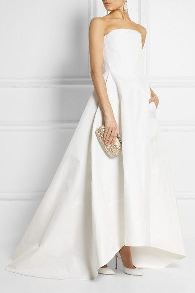 Rochaswoven silk gown - so simple and gorgeous.