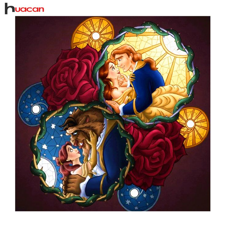 HUACAN Diamond Painting Roses 5D Diamond Embroidery Full Square Mosaic Kit for Decor Girlfriend Gifts N52
