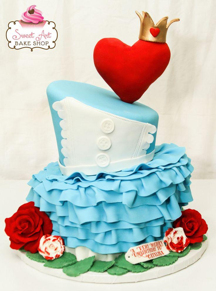 Alice in Wonderland cake by Sweet Art Bake Shop :: Celebration Cakes