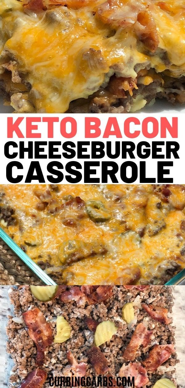 Low Carb Bacon Cheeseburger Casserole In 2020 Ground Beef Recipes For Dinner Bacon Cheeseburger Casserole Beef Recipes For Dinner