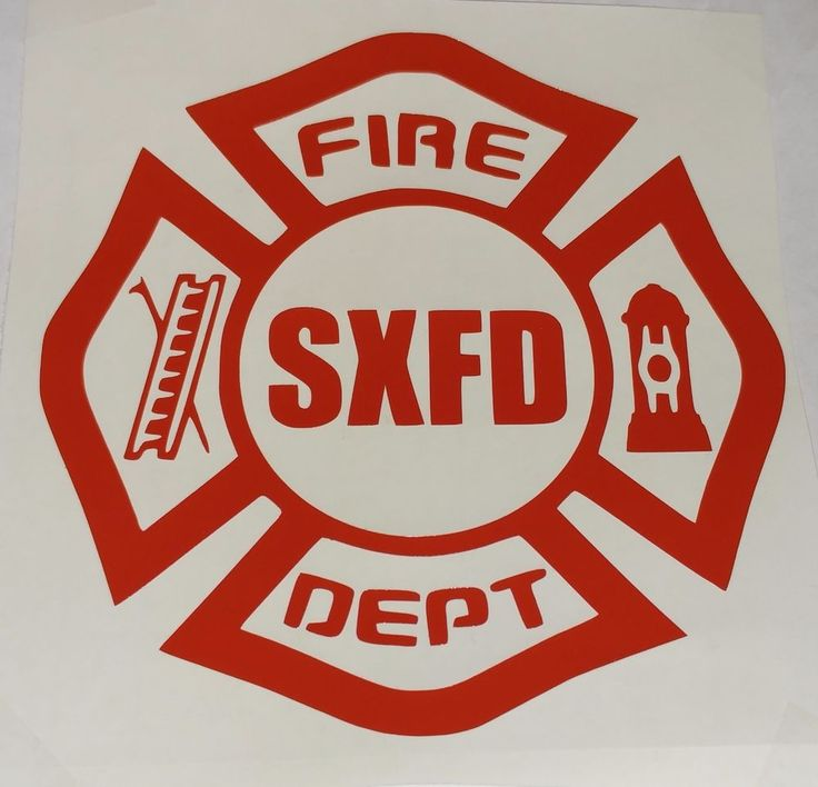Firefighter Cross Fire Department Custom Decal Sticker REFLECTIVE AVAILABLE #SXDGraphix