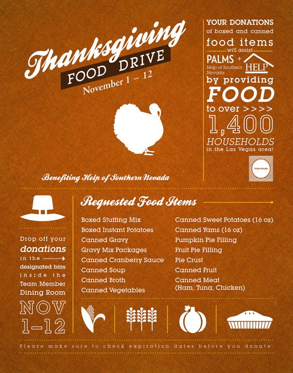 Thanksgiving Food Pantry Kitchen Donation Ideas