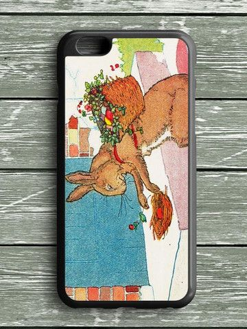 Bunny And Flowers iPhone 6 Plus Case