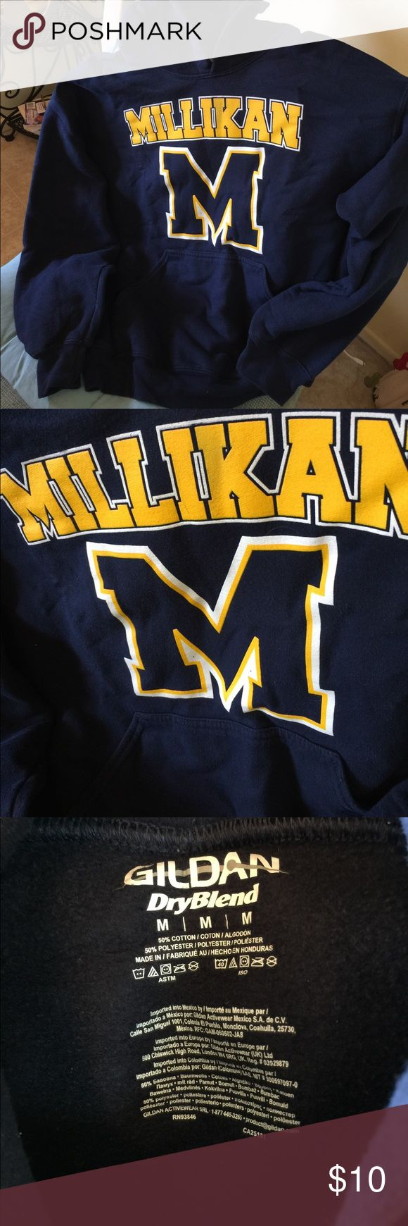 Millikan High School Women's Hooded Sweatshirt Top This is a perfect sweatshirt for your high school student who goes to this great school in Long Beach. My granddaughter outgrew and it is in perfect seldom worn condition. The reason I am selling cheap it is missing hood string which is easy to fix. Get this good deal!! Save money! Gilbrand Tops Sweatshirts & Hoodies