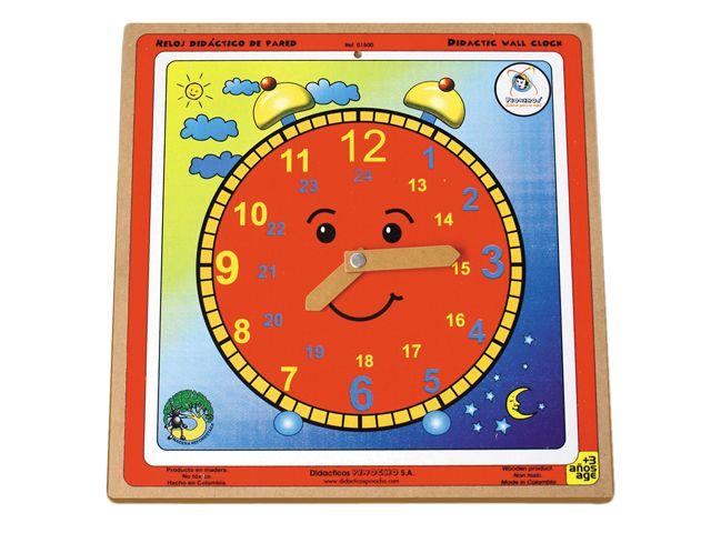 Reloj didáctico de pared. Ref 8-01500