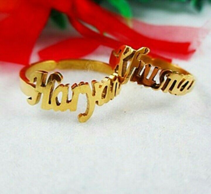 Cincin nama lapis emas 100rb/pcs ☏ KONTAK ➡BBM : 5E8C0590 ➡Telp/Line/WA: +6281296900530 #accessories #cincinnama