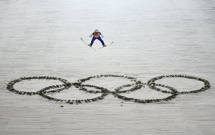 Daiki Ito of Japan jumps during the Men's Team Ski Jumping first round (c) Getty Images